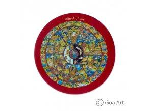 Wheel of life  Samolepka Koleso života