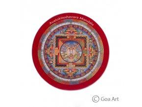 Avalokiteshavara  Samolepka mandala