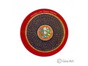 Mandala with Tibetan Mantra  Samolepka mandala s mantrou