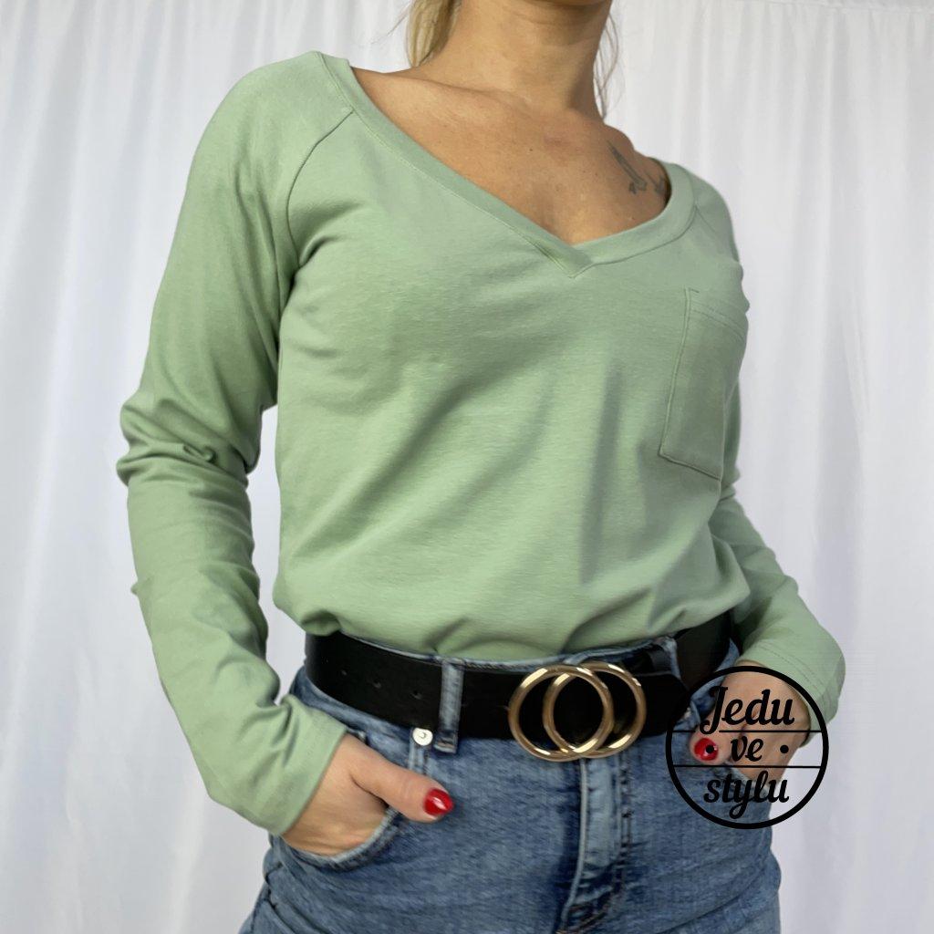 Dámské tričko s dlouhým rukávem Renné zelené
