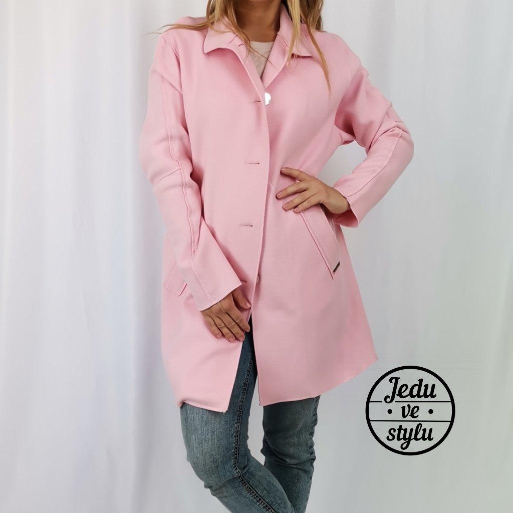 Dámský jarní kabát Elisabeth růžový