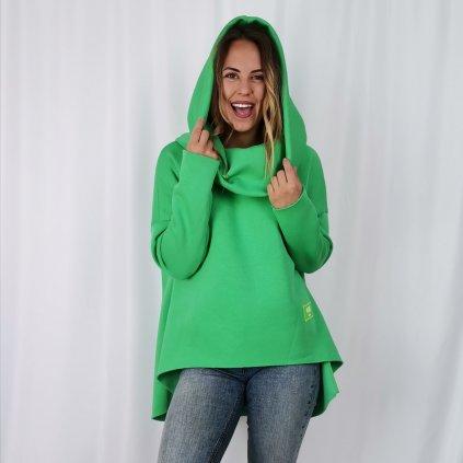 Dámská mikina bavlněná MC zelená
