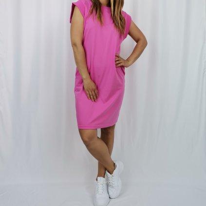 Dámské bavlněné šaty Celine růžové
