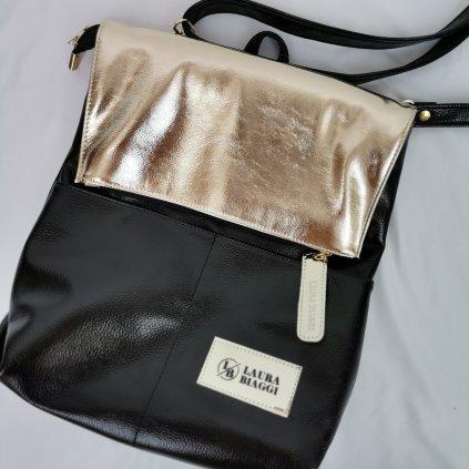 Dámská kabelka/ batůžek Annie černo-zlatá