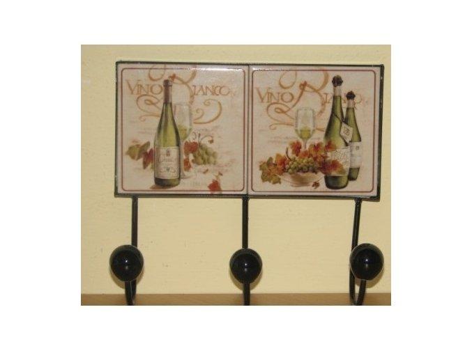 Keramický věšák duo  bílé víno