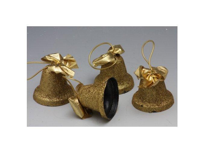Zvoneček zlatý na zavěšení 6 cm