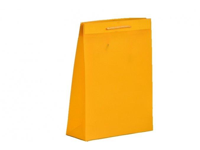 Dárková taška plastová 40x31x9 oranžová