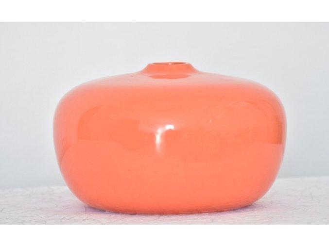 Keramická váza 1 oranžová