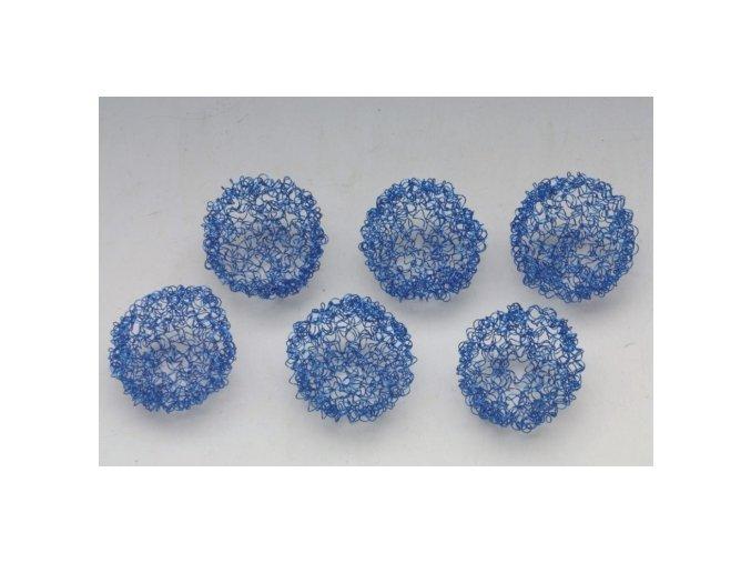 Koule drátěné 8x6 modrá
