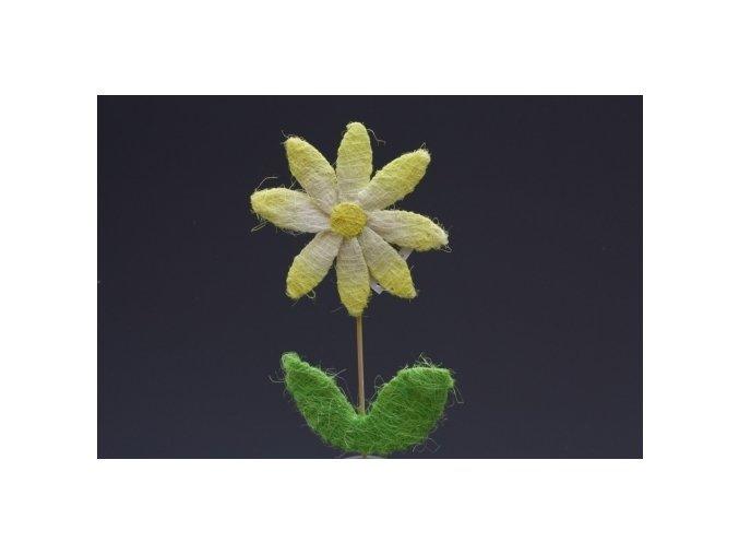 Květina za sisalu 46 cm Žlutá