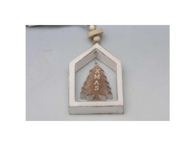 Závěs v rámečku bílý strom