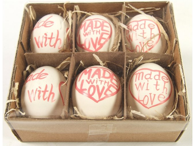 Velikonoční vajíčka sada 6 ks červená