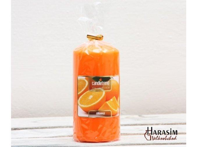 Svíčka válec Orange 11 cm