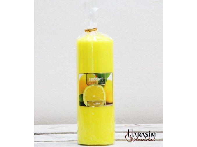 Svíčka válec Lemon 16,5 cm