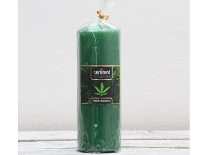 Svíčka válec Smoking Marijuana 16,5 cm