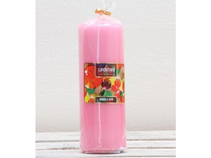 Svíčka válec Bubble Gum 16,5 cm