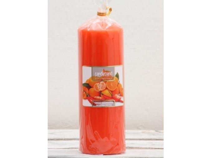 Svíčka válec Mandarinka s chilli 16,5 cm