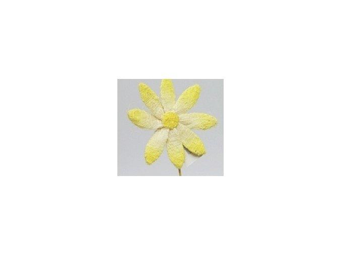 Květina ze sisalu 46 cm žlutá