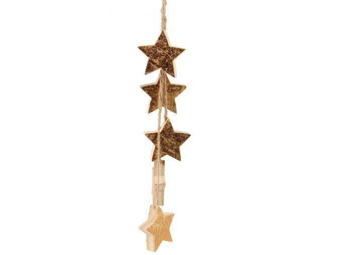 Závěsná dekorace - srdce, stromeček, hvězda Varianta hvězda