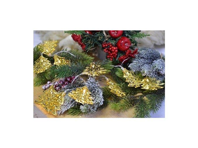 Vánoční osvětlení - stromeček 160 cm, zlatý