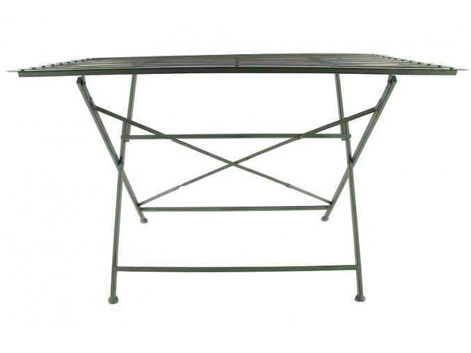 Skládací kovový stůl, zelený
