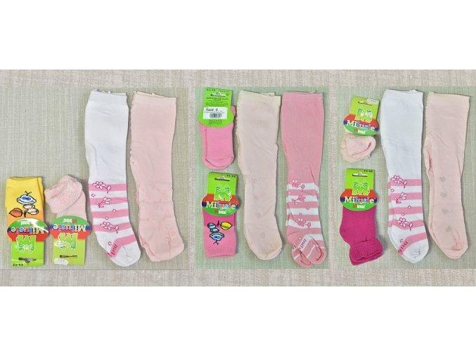 Dětské punčocháče dívčíé 2x, ponožky 2x