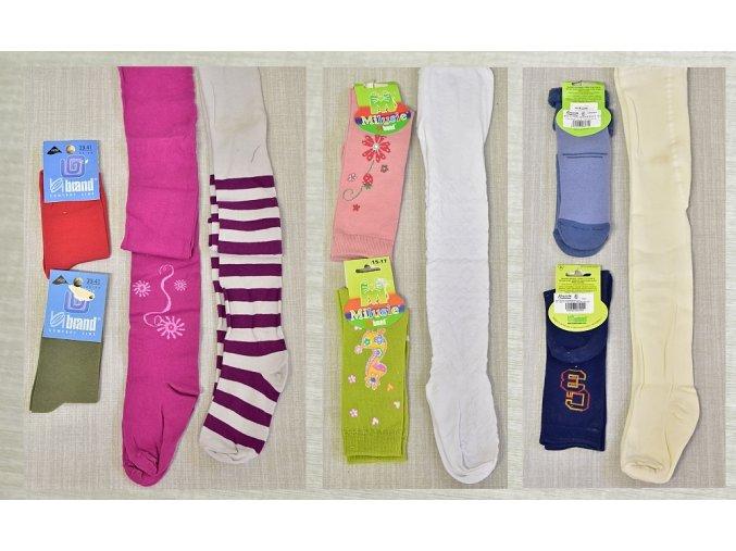Dětské punčocháče dívčí vel. 140-146 2 ks, ponožky 23-26 2 ks