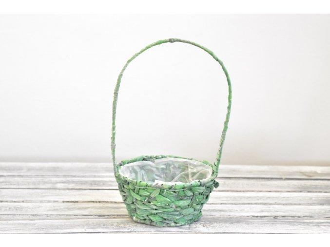 Košík přírodní zelený 20 cm
