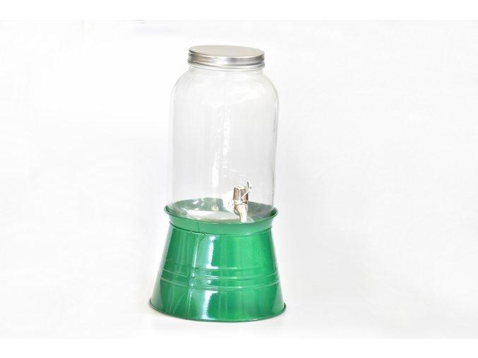 Nápojový dávkovač 3,6 litrů, mix barev zelená