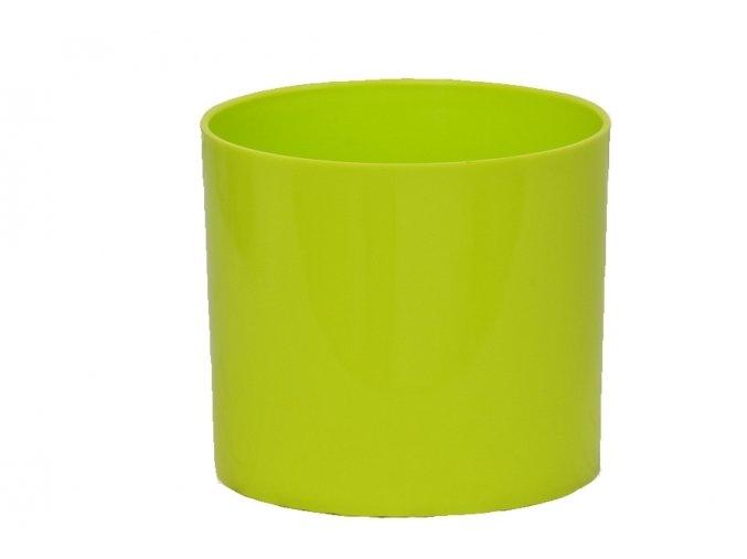 Plastový květináč Cylindr 11 cm, limetka