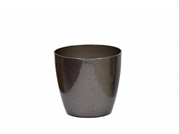 Plastový květináč Aga 95 mm, grafit