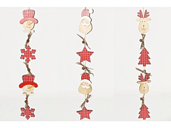 Vánoční girlanda 47 cm, mix druhů