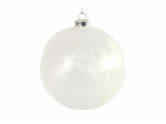 Bílá vánoční baňka Yana L