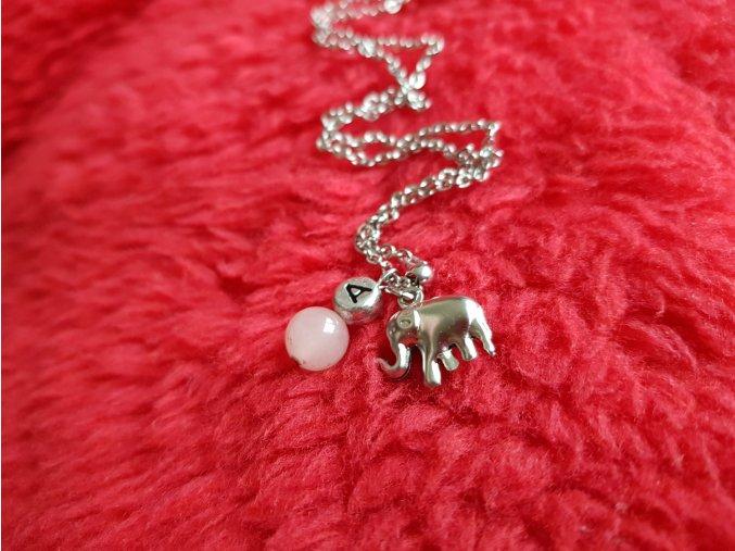 Bimbo Dívčí náhrdelník (chir. ocel, růženín)1