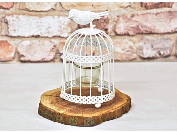 Kovová ptačí klec - svícen