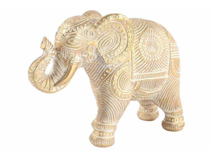 Dekorace slon Abu L gold