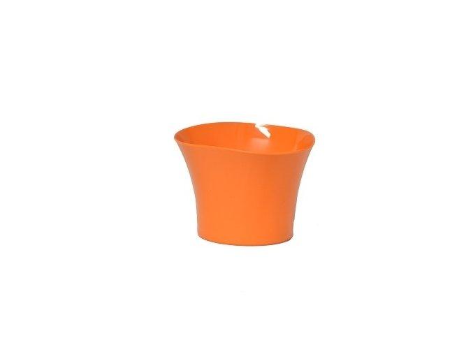 Plastový květináč Primulka oranžový