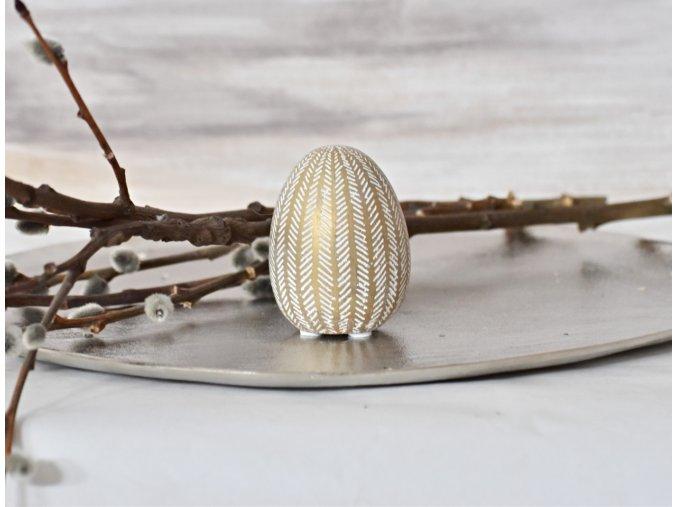 Dekorační vejce Gold S
