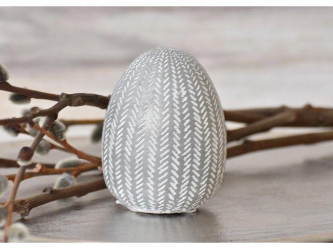 Dekorační vejce Silver M