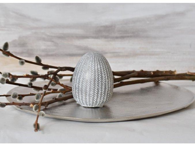 Dekorační vejce Silver S