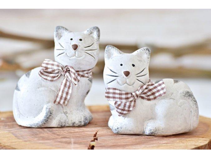 Keramická kočka Millie S, šedá