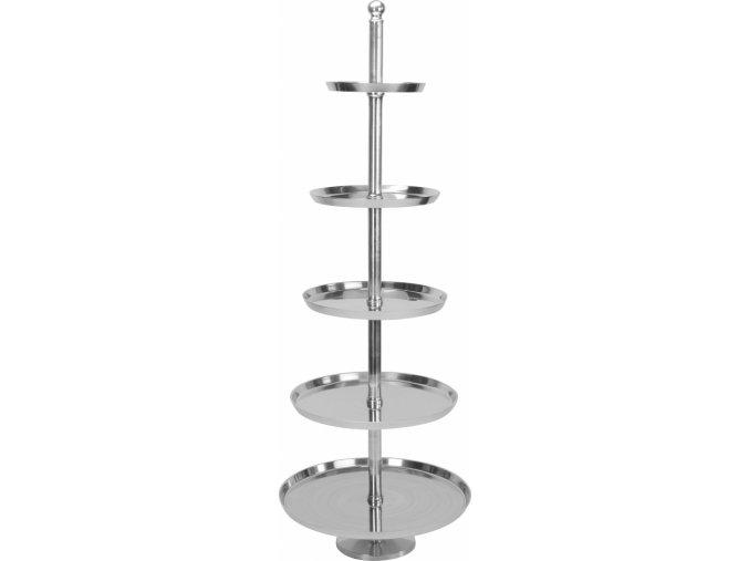 Pětipatrový hliníkový podnos 170 cm