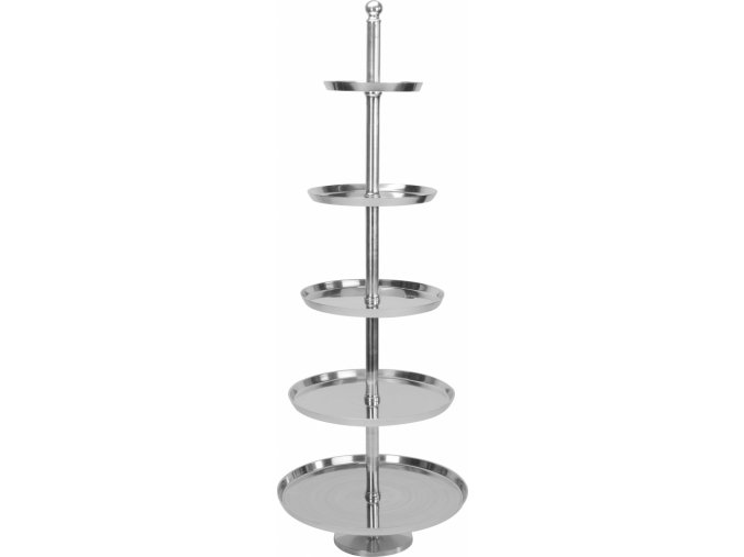 Pětipatrový hliníkový podnos/etažér 170 cm