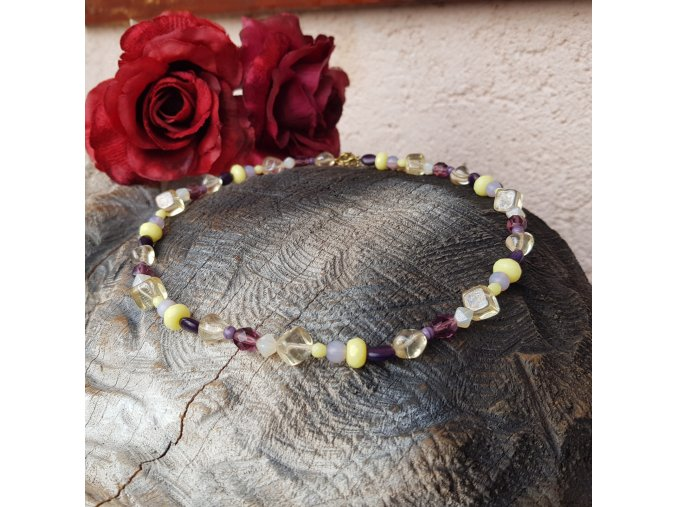 Luxusní náhrdelník z českých skleněných korálků1