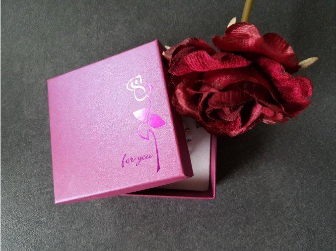 Luxusní dárková krabička Fialová1