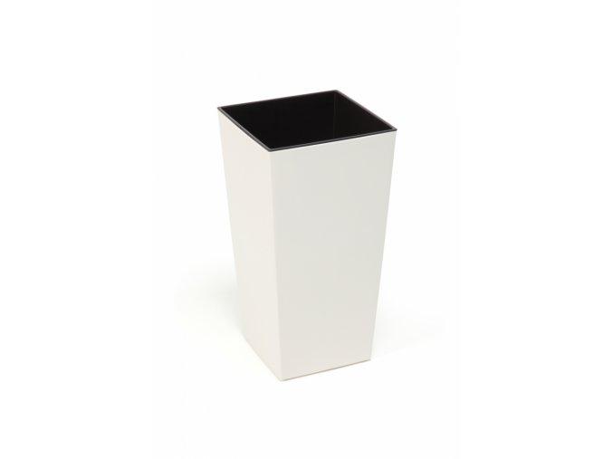 Plastový květináč Finezia 250x250 mm, krémový
