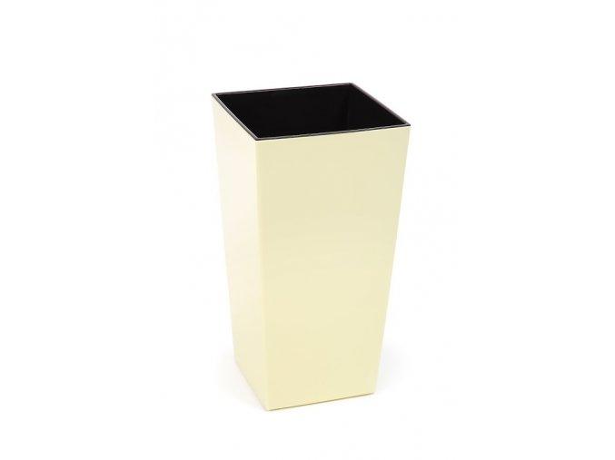 Plastový květináč Finezia 400x400 mm, vanilka