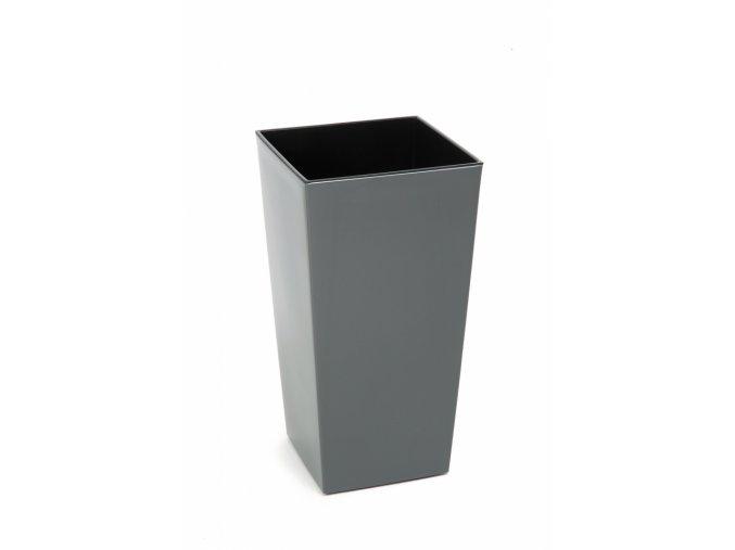 Plastový květináč Finezia 300x300 mm, antracit