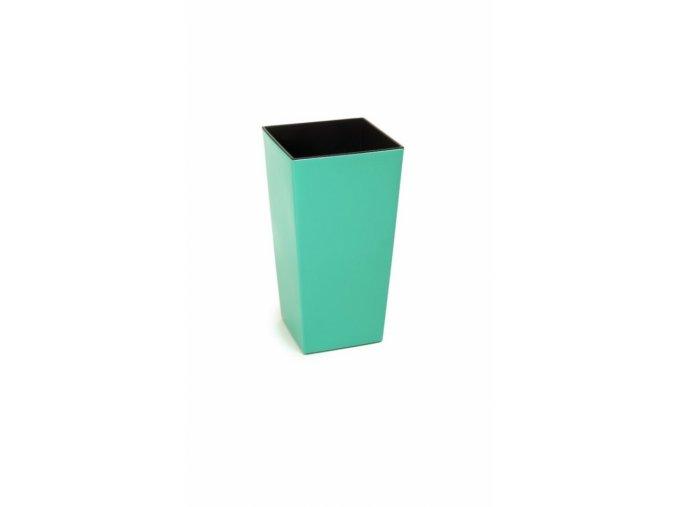 Plastový květináč Finezia 190x190 mm, smaragd