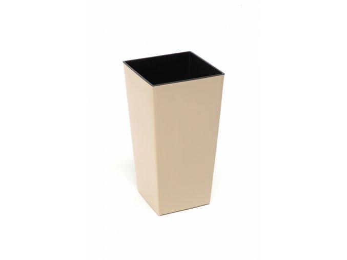 Plastový květináč Finezia 140x140 mm, cappuccino